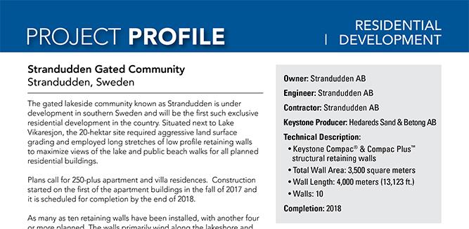 Strandudden project profile om Keystone Compact sten