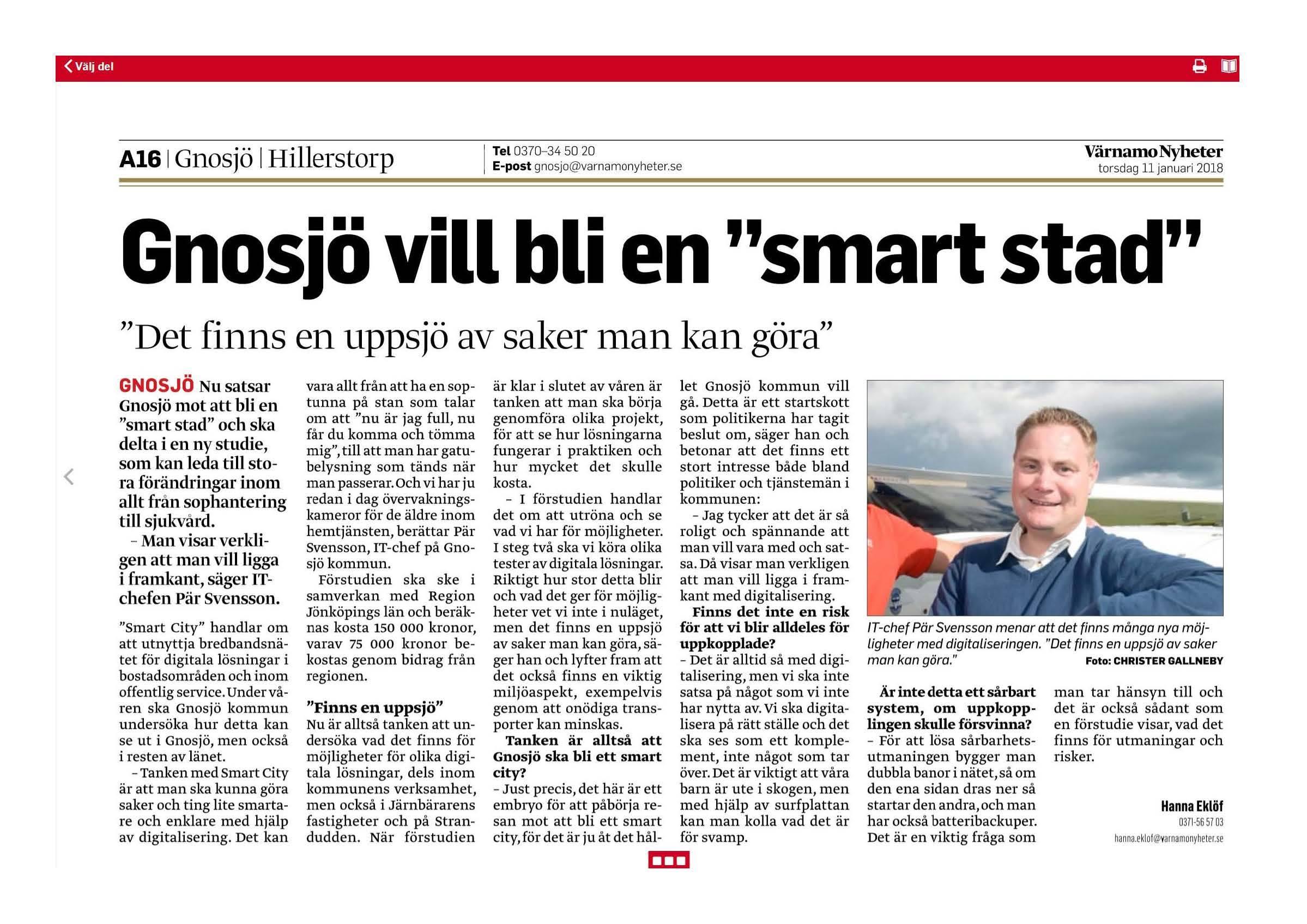 Gnosjö Kommun tar initativ till digitalisering